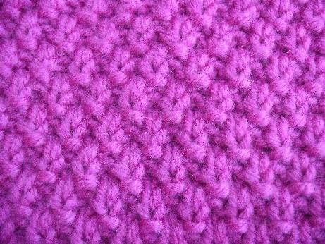 Moss stitch handwarmers 2