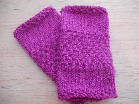 Pink wristwarmers