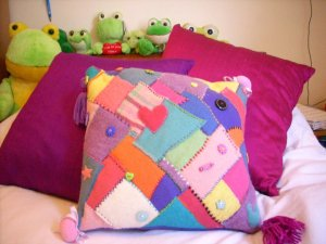 Ellie's patchwork cushion 2