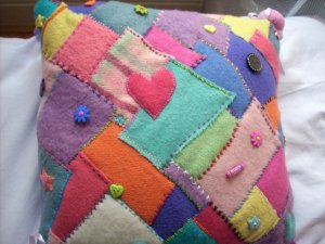 Ellie's patchwork cushion
