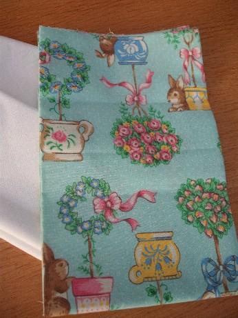 Vintage bunny fabric
