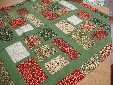 Stained glass quilt with border