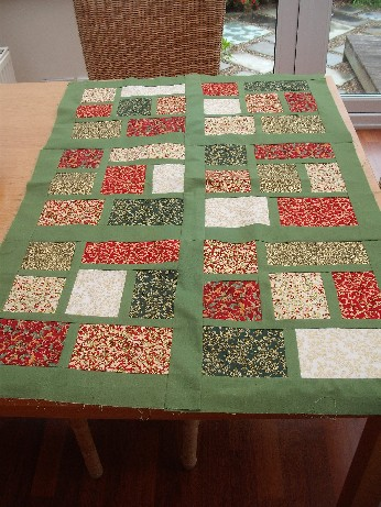 stained glass window quilt top