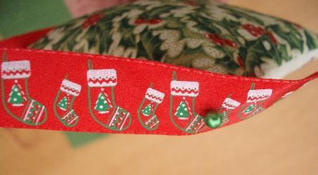 Xmas pud ornie ribbon
