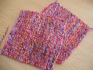 Knitted square 2
