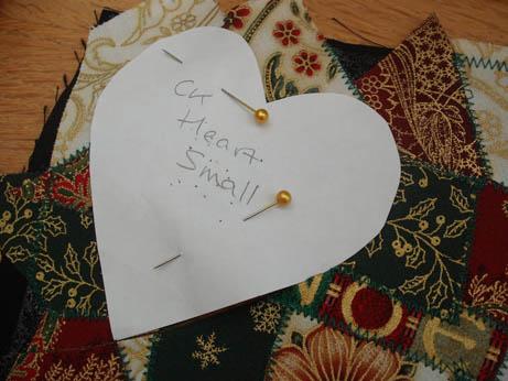 fabric xmas heart 2