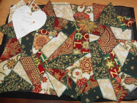 fabric xmas heart 1
