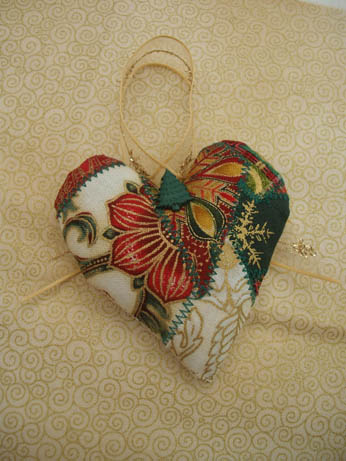 fabric xmas heart 3