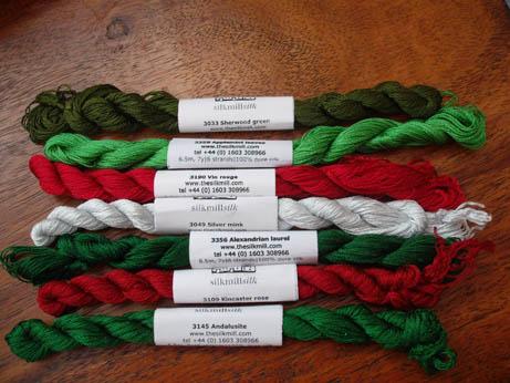 Xmas Silk Mill silks