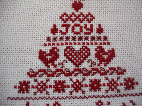 Cross stitcher Xmas ornie