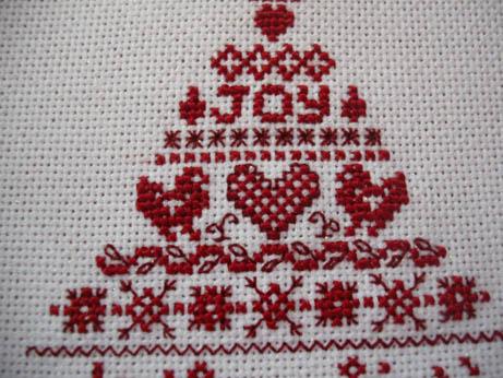 Cross stitcher Xmas ornie