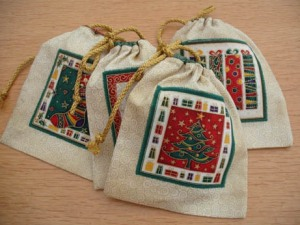 xmas ornies labels bags