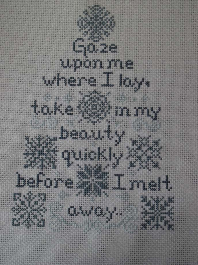Snow poem finished