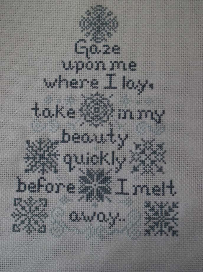 Snow poem finished