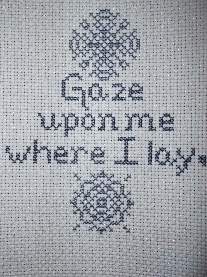 Snow poem stitching