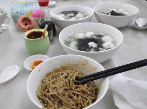 Food 5 - Shantou noodles and fish balls
