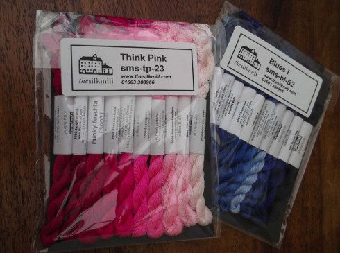Pink and Blue silks