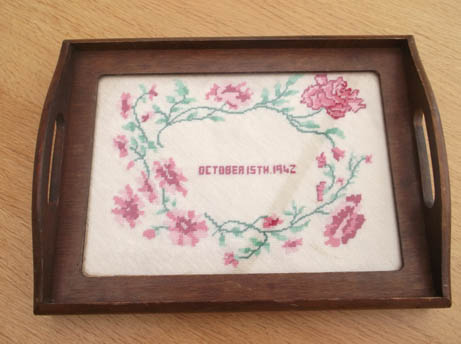 Needlepoint tray 1