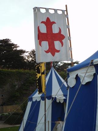 Caldicot - camp - Clive's tent