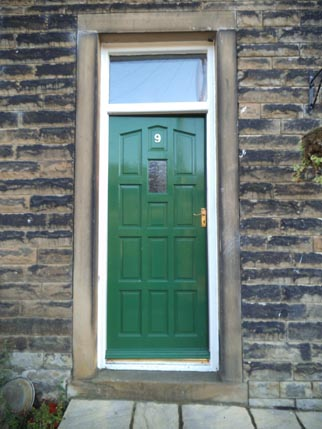 new house - green door
