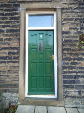 new house - green door