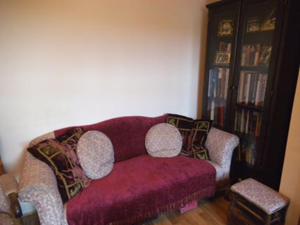 new house - old sofa