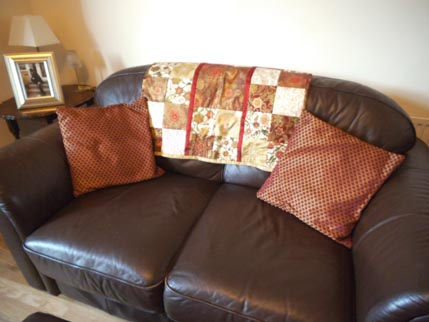 new house - sofa quilt