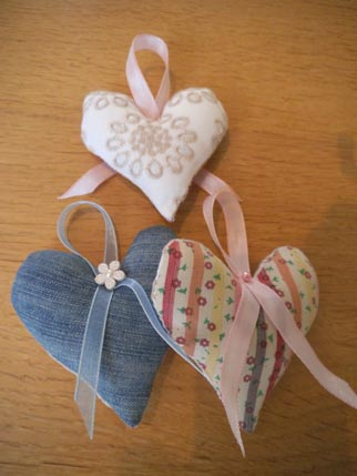 Upcycled hearts Jan 4
