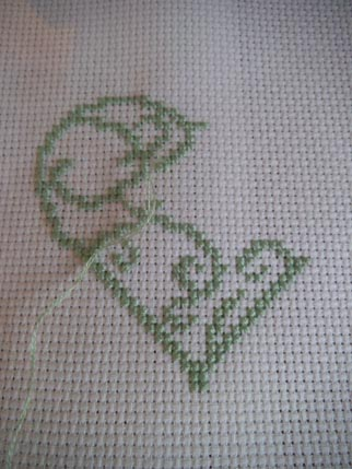 Heart cross stitch 2