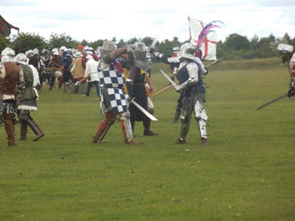 Knights and Freeman and Harlech fighting