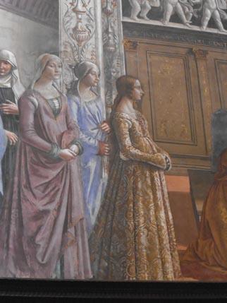 SC Fresco - gown detail