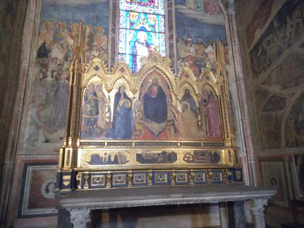 SMN chapel with polyptych