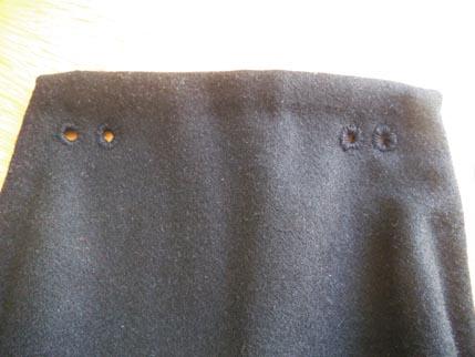 Hose outside holes detail