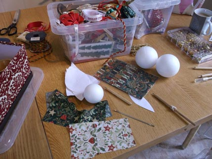 Bauble making Sept