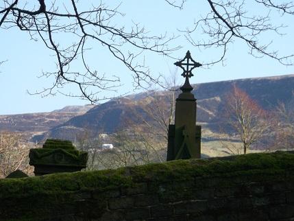 Spring walk March churchyard