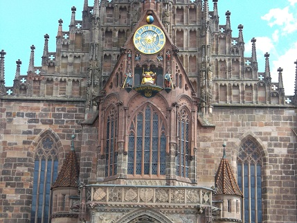 Bavaria 2014 Nuremburg church clock