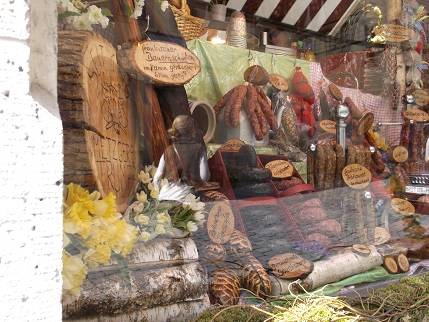 Bavaria 2014 Rotenburg sausage shop