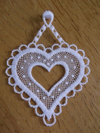 Bavarian needlework - heart