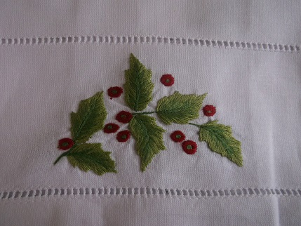 Bavarian needlework -xmas cloth