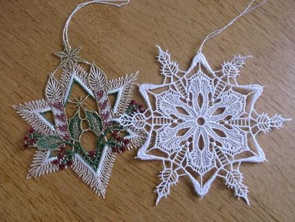Bavarian needlework -xmas ornies
