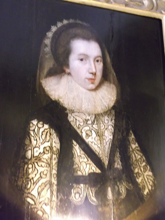 Nostell Priory blackwork portrait