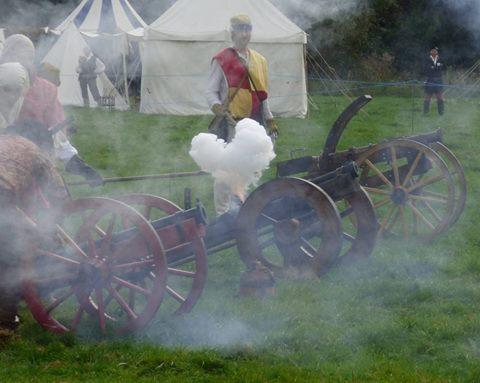 Hampton Court battle 4 - guns