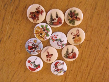 Yarndale xmas buttons