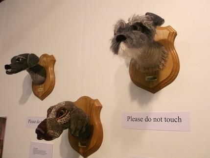 Harrogate 2014 Knitting exhibit 4 dogs