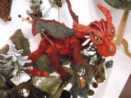 Harrogate 2014 Knitting exhibit 5 dragon