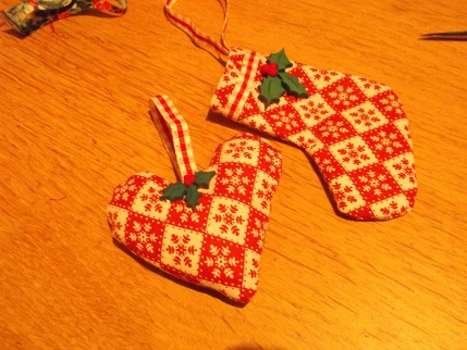 Crafternoon 3 - stocking and heart