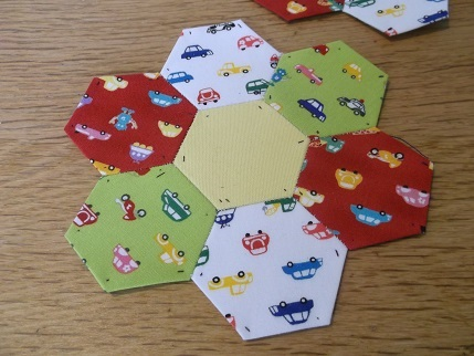 hexagons car print