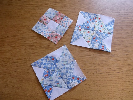 Quilt blocks Moda charm squares 1