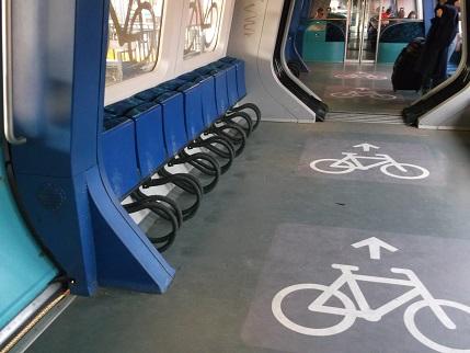 Copenhagen train bike area