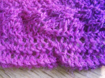 Knitting April 2015 - cuff detail
